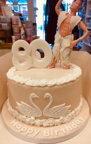 Swan Lake themed birthday cake