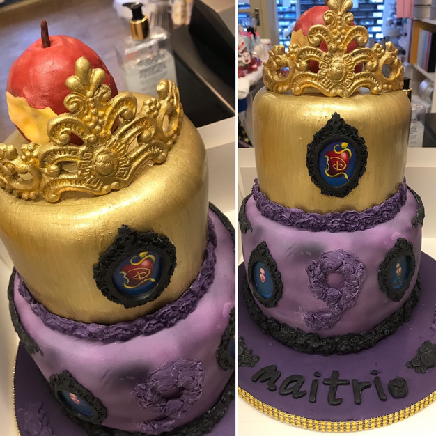 #Desendants 3 themed celebration cake