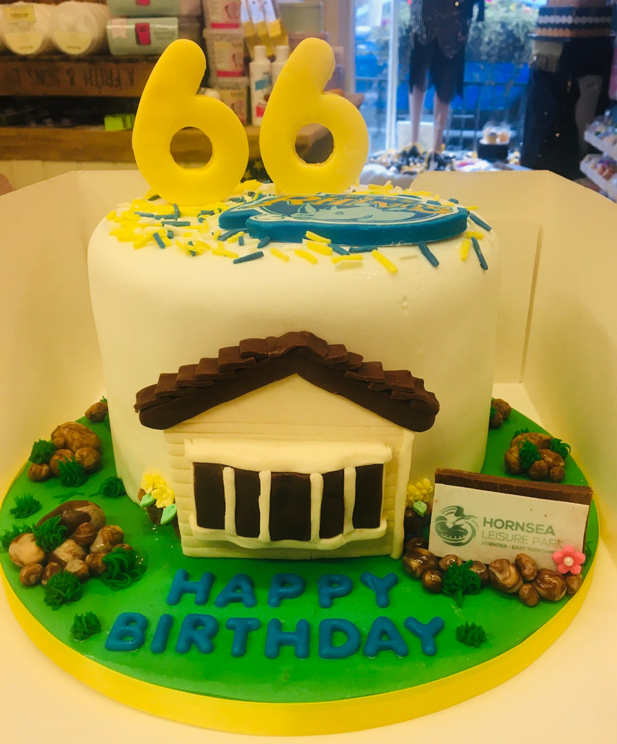 Caravan themed celebration cake