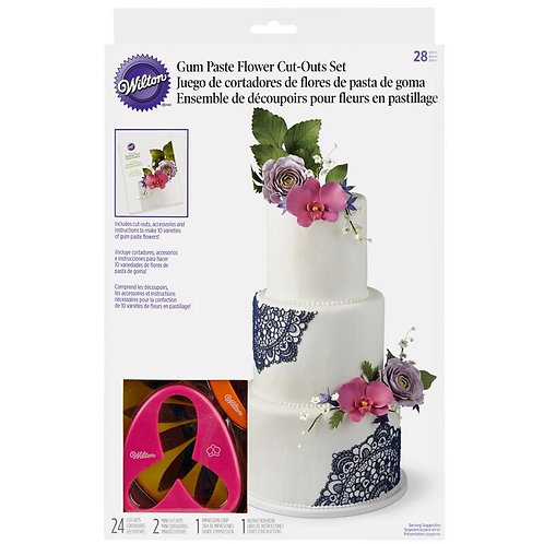 Wilton Gum Paste Flower Cutter Set, 28-Piece
