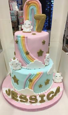 Unicorn themed Birthday Cake