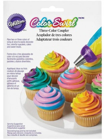 Wilton Color Swirl Three Color Coupler