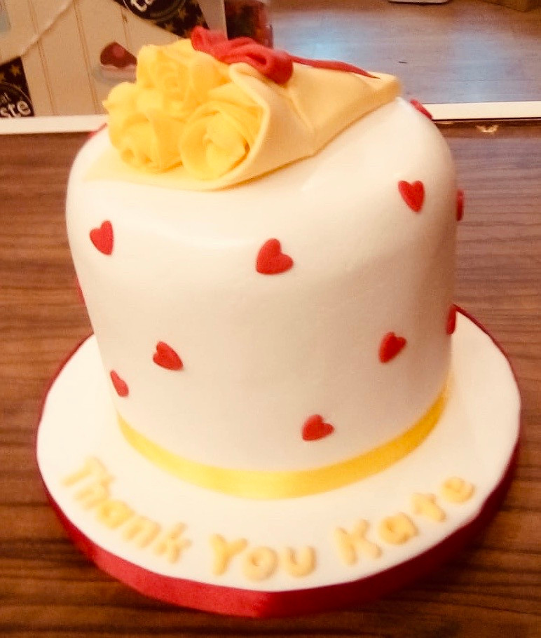 A simple thankyou cake