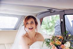 Happy Bride Wedding celebrant in Hemel H