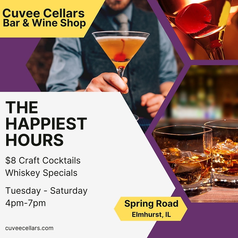 Happiest Hours! $8 Craft / Whiskey Specials