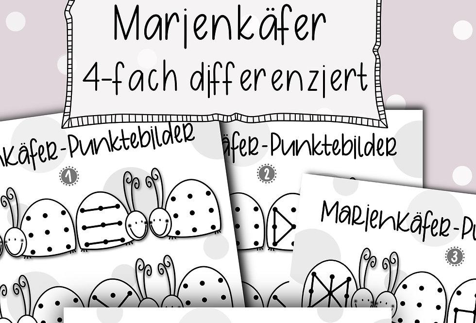 Punktebilder Marienkäfer - 4-fach differenziert