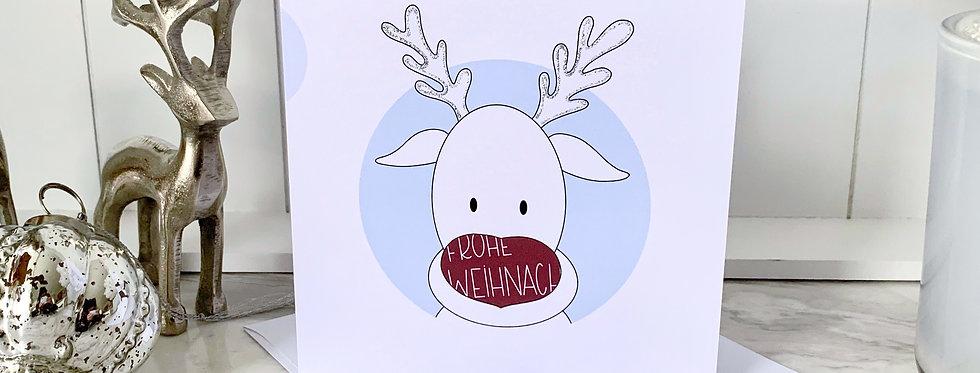 """Weihnachtskarte """"Rentier Punkte"""""""