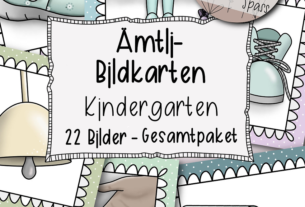 Ämtli-Bildkarten für den Kindergarten - Gesamtpaket
