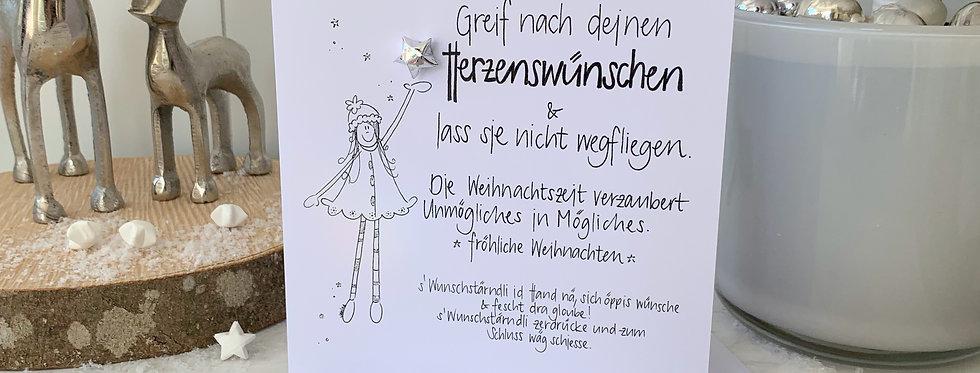 """Weihnachtskarte """"nach Wünschen greifen"""""""