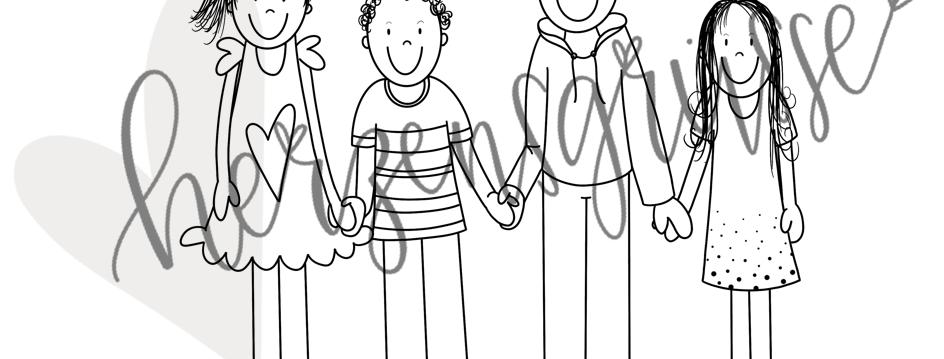 Kinder schwarzweiss