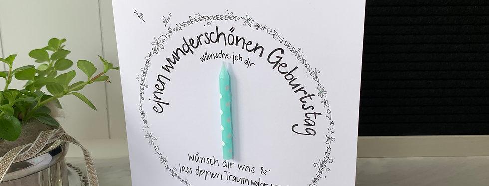 """Geburtstagskarte """"Geburtstagskerze"""""""