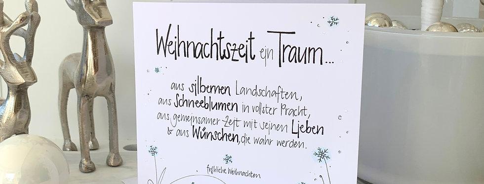 """Weihnachtskarte """"ein Traum"""""""