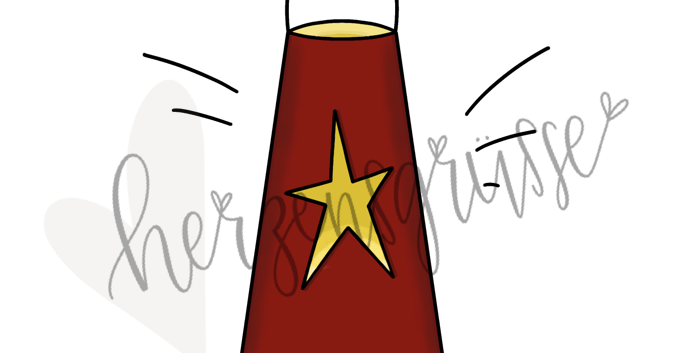 Sternenlaterne rot