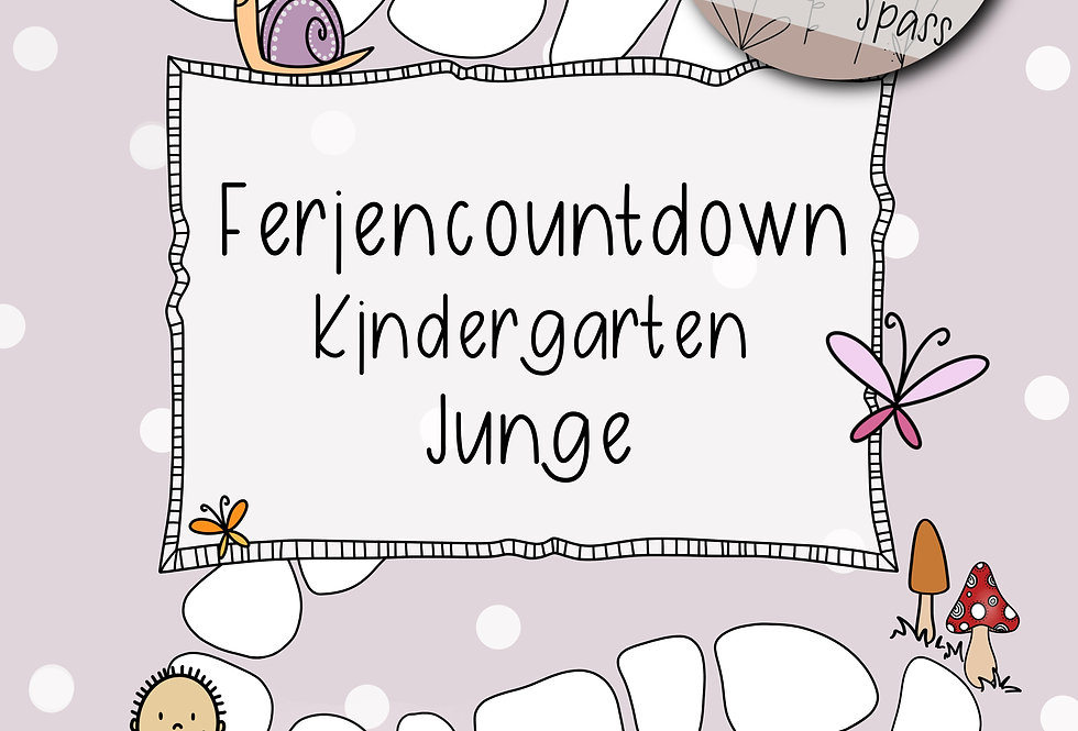 Feriencountdown Kindergarten - Junge