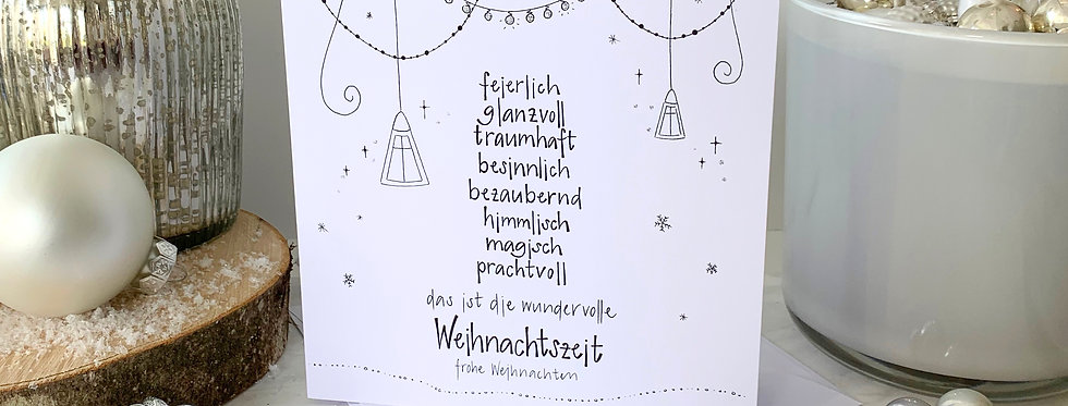 """Weihnachtskarte """"die wundervolle Weihnachtszeit"""""""