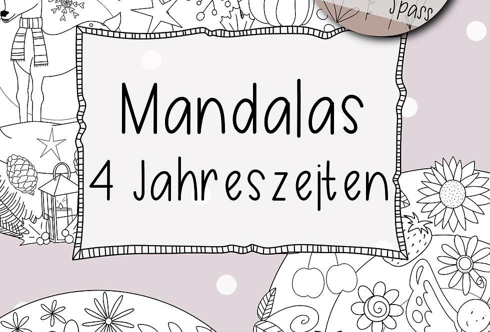 4 Jahreszeiten Mandalas