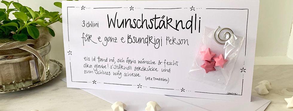 """Geburtstagskarte """"3 Wunschsterne"""""""