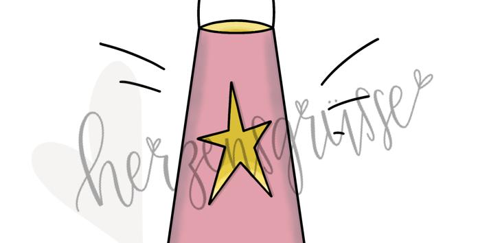 Sternenlaterne rosa