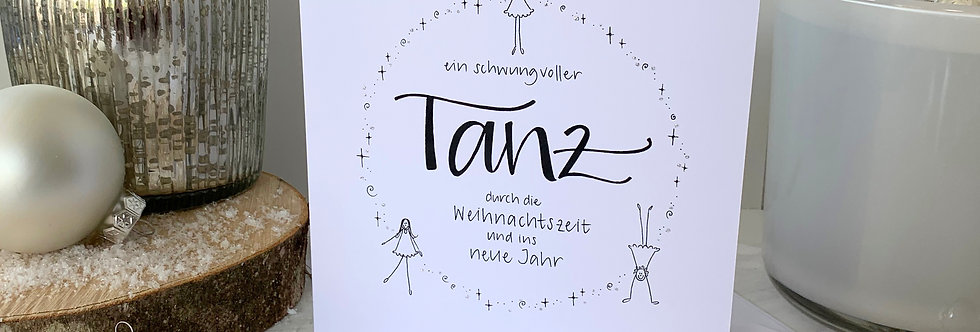 """Weihnachtskarte """"Tanz"""""""