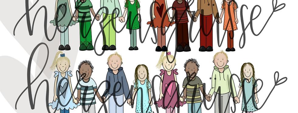 Kinder in allen Farben