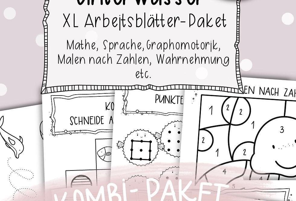 Unterwasser Arbeitsblätter - Kombipaket