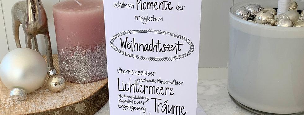 """Weihnachtskarte """"Nimm dir Zeit"""""""