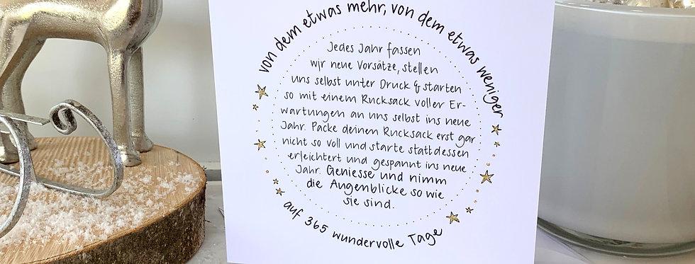 "Neujahrskarte ""Vorsätze"""