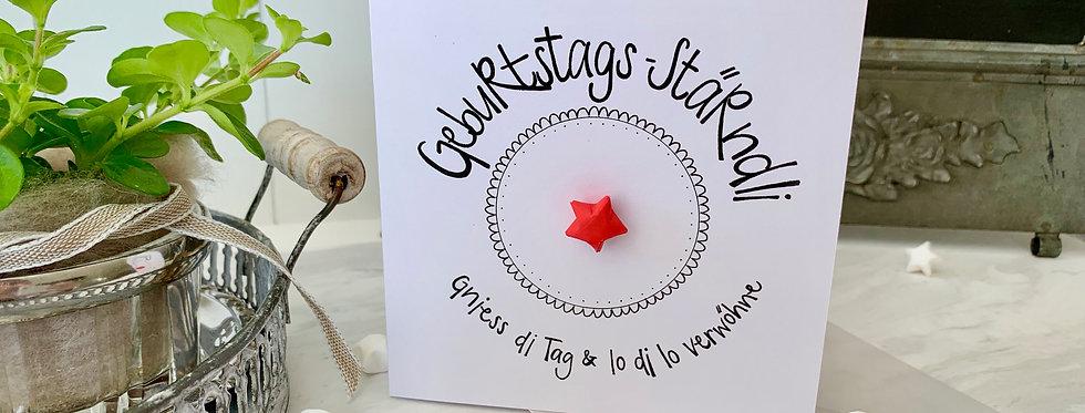 """Geburtstagskarte """"Wunschstern"""""""