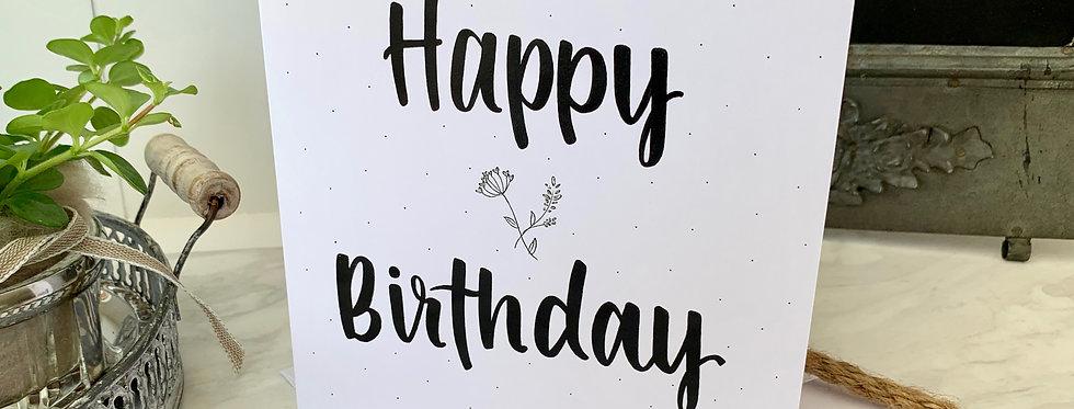 "Geburtstagskarte ""Happy Birthday Blume"""