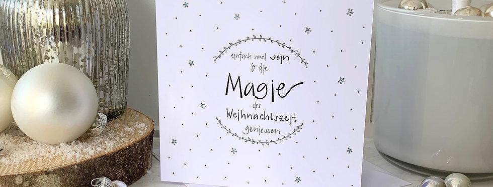 """Weihnachtskarte """"Magie"""""""