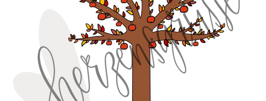 Jahreszeitenbaum Herbst
