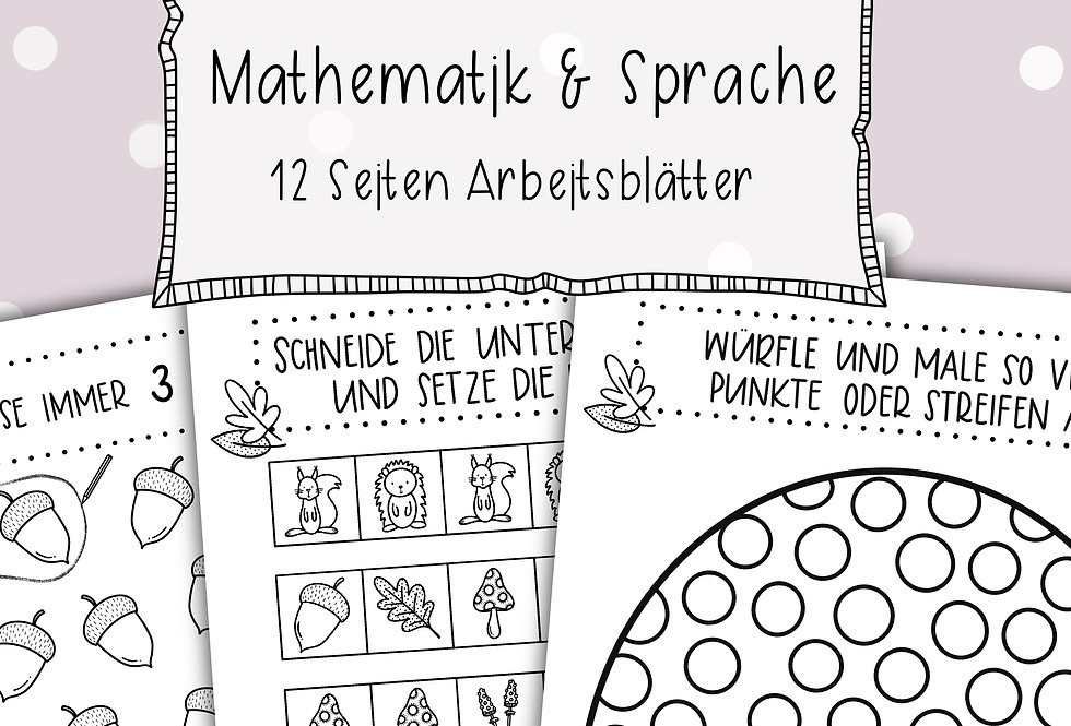 Herbst Arbeitsblätter - Mathematik & Sprache