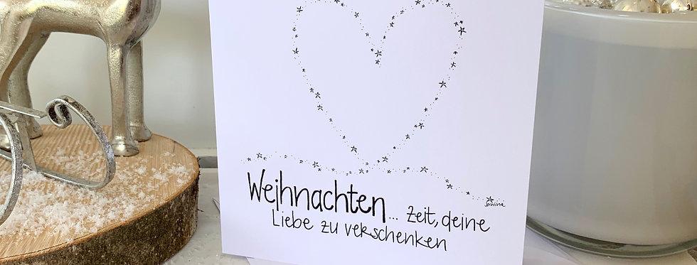 """Weihnachtskarte """"Liebe verschenken"""""""