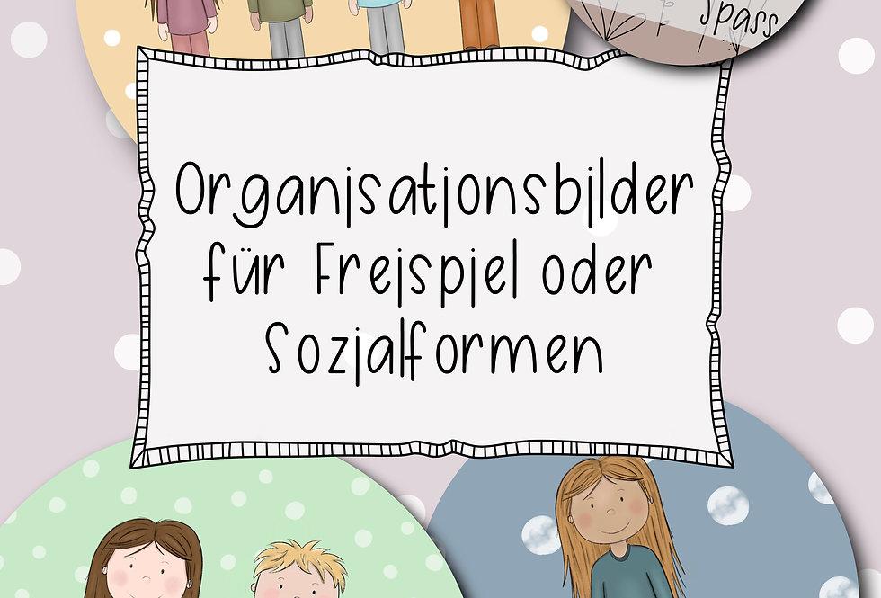 Anzahl Kinder - Organisationskarten für das Freispiel oder Sozialformen
