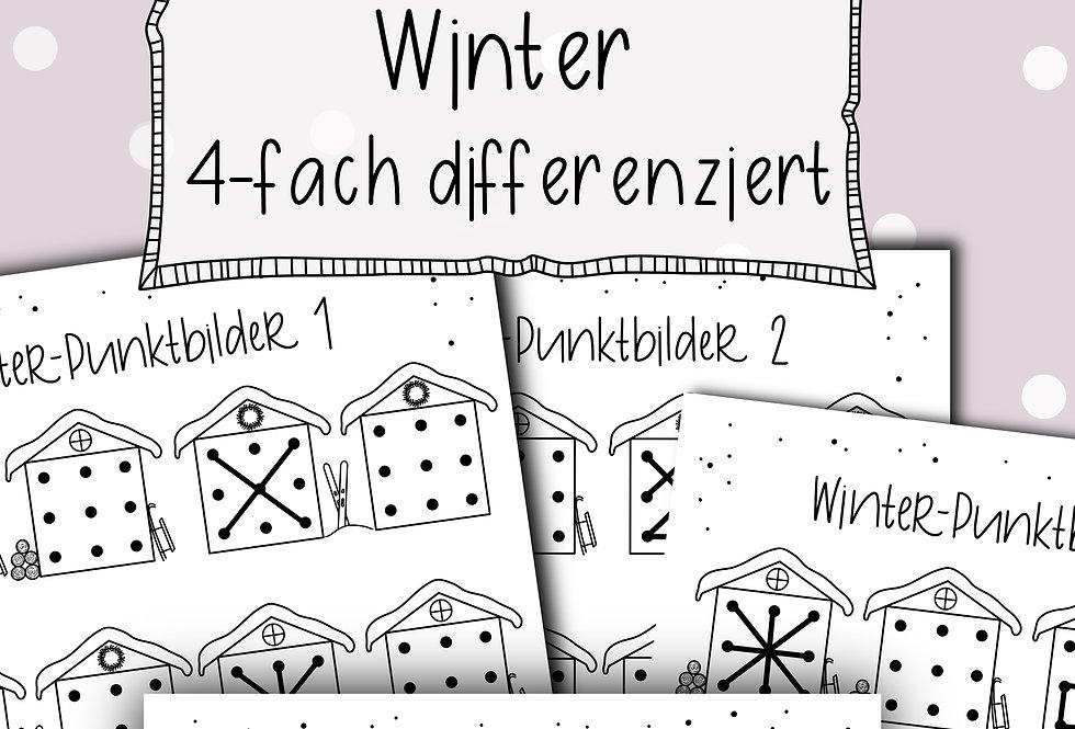 Punktebilder Winter - 4-fach differenziert
