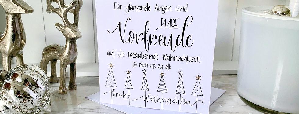 """Weihnachtskarte """"Vorfreude"""""""