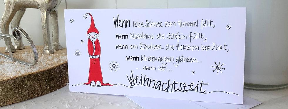 """Weihnachtskarte """"Nikolaus"""""""