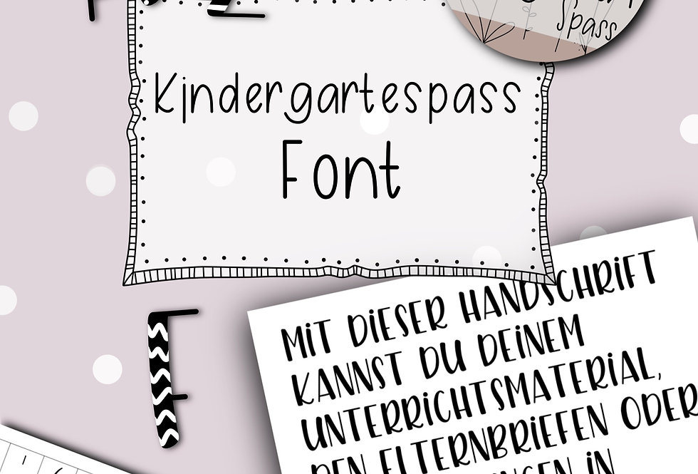 Font Kindergartenspass
