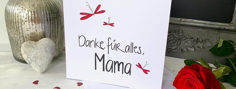 "Muttertagskarte ""Danke Mama"""