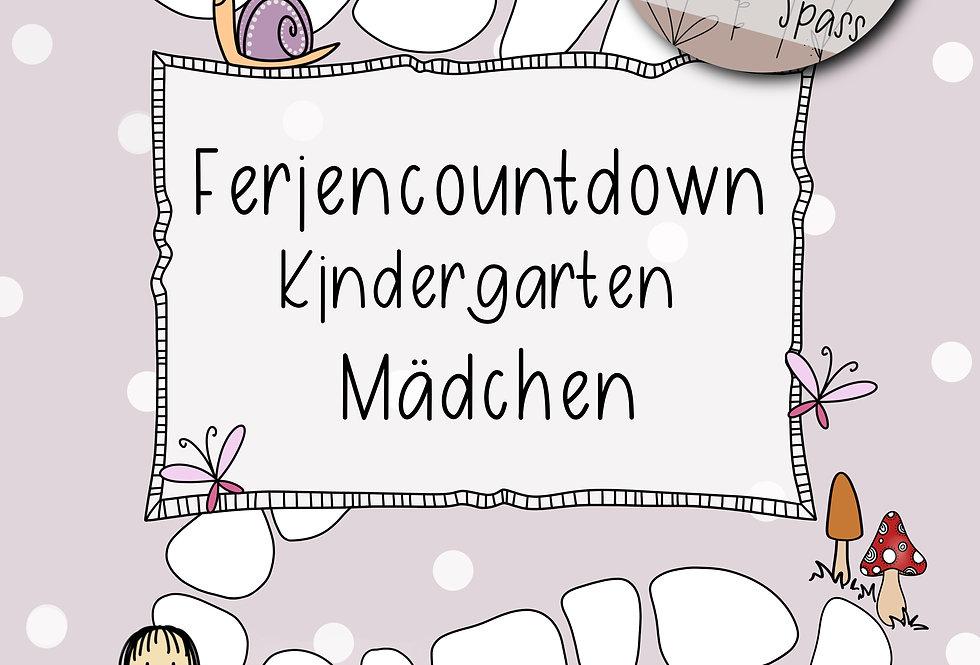 Feriencountdown Kindergarten - Mädchen
