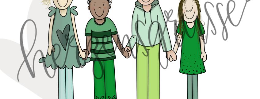 Kinder grün