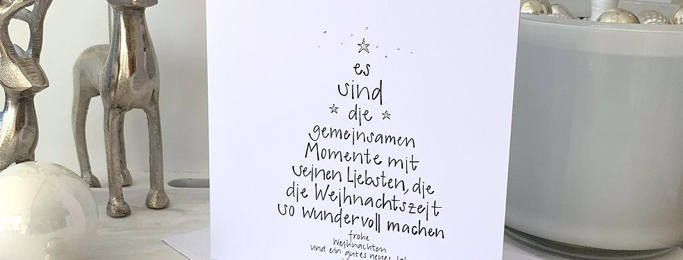 """Weihnachtskarte """"gemeinsame Momente"""""""