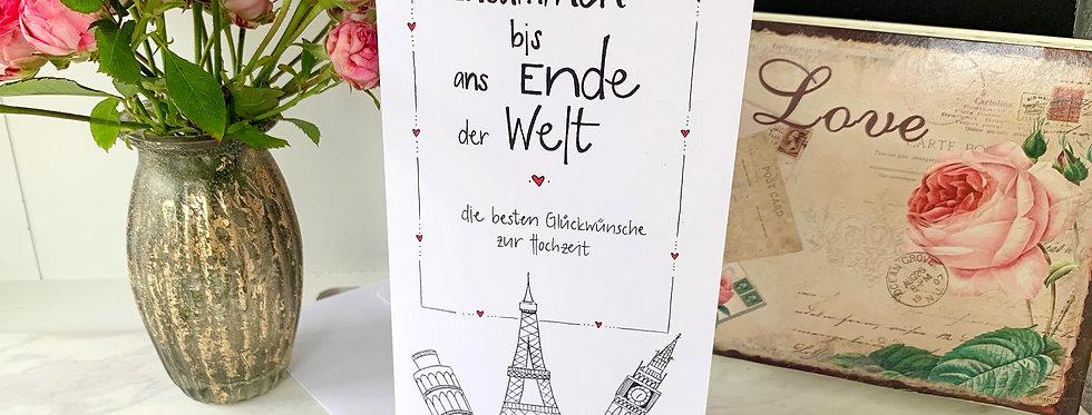 """Hochzeitskarte """"zusammen"""""""