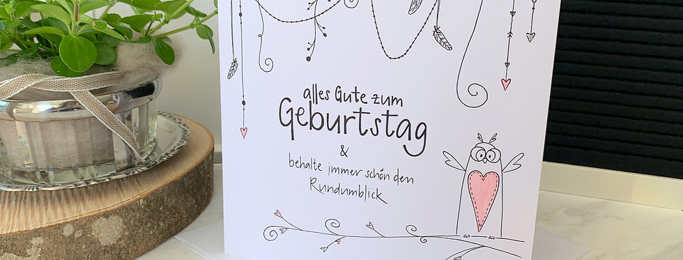 """Geburtstagskarte """"Eule"""""""