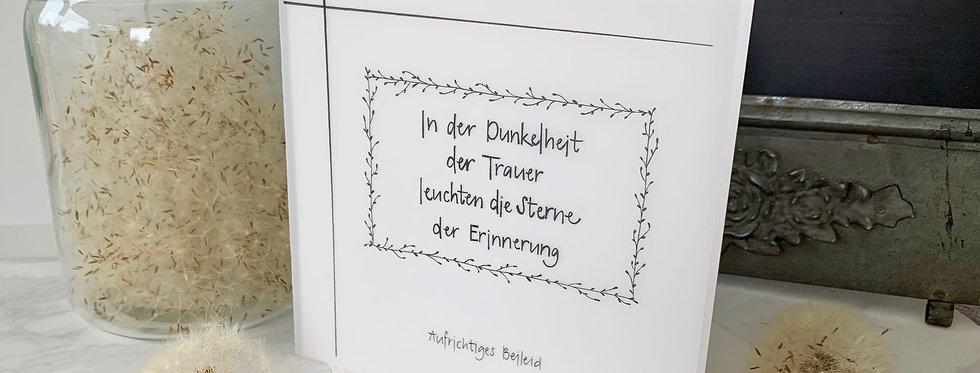"""Trauerkarte """"Erinnerung"""""""