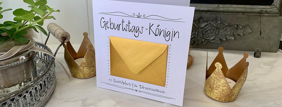 """Geburtstagskarte """"Königin"""""""