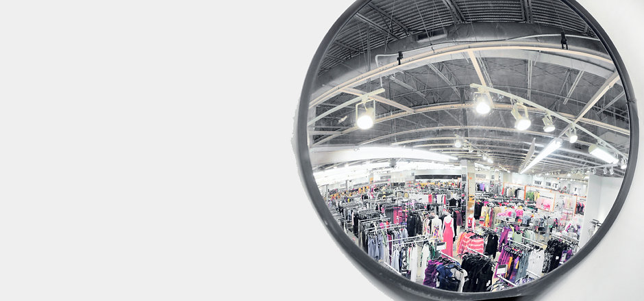 Safety and Security Mirror for Retail store
