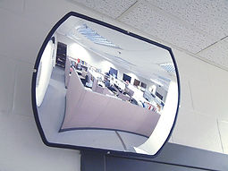 Convex Roundtangular Mirror - Safety and Security