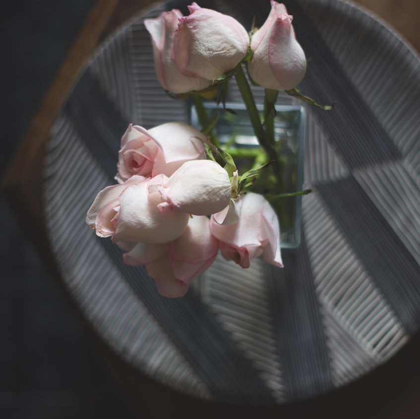 Roses and table