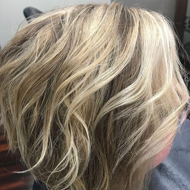 Bob haircut and balayage with highlight